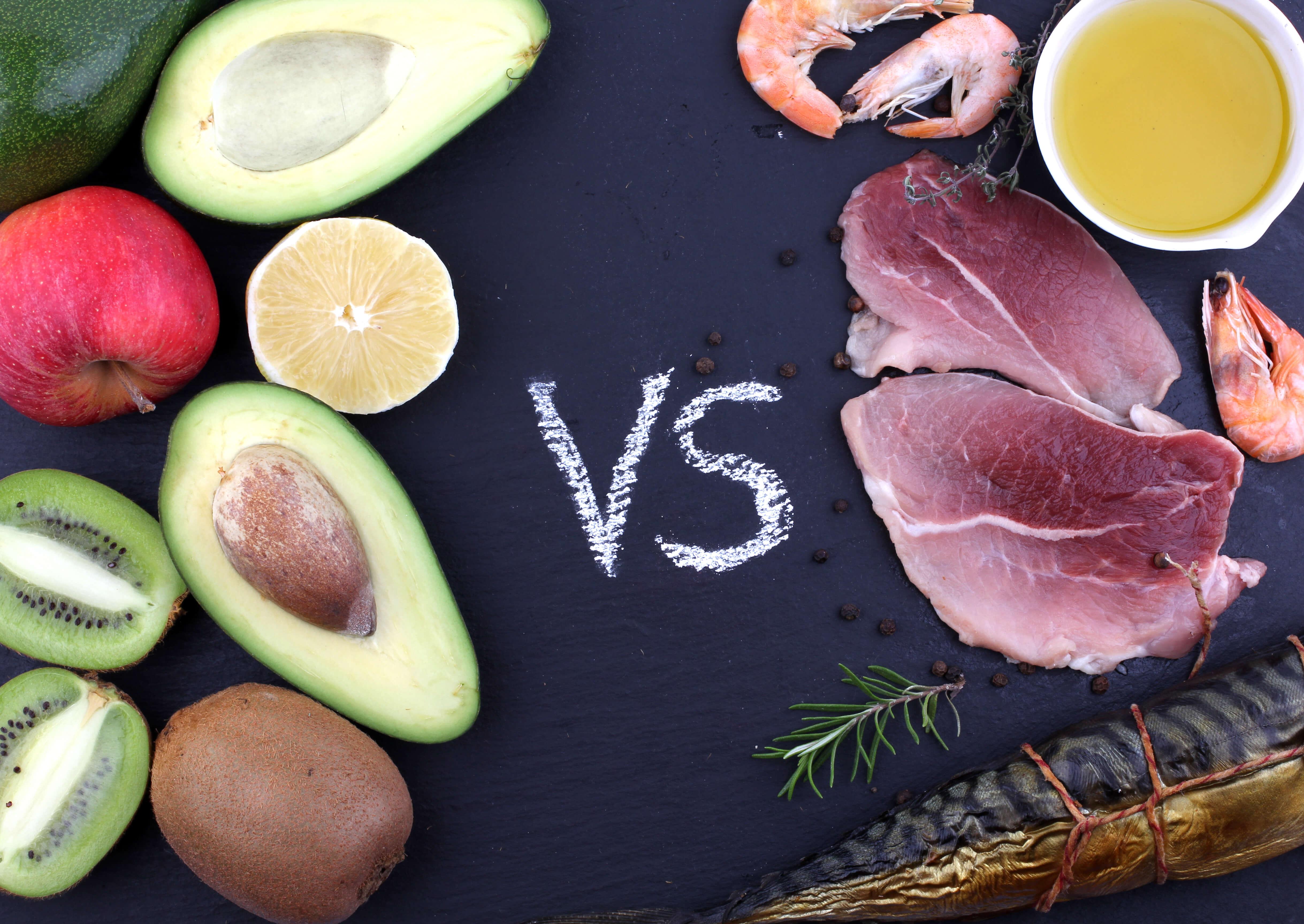 Мясо против фруктов